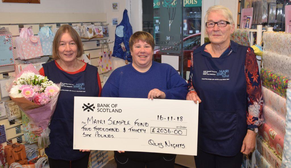 Quizmaster Helen's huge charity boost