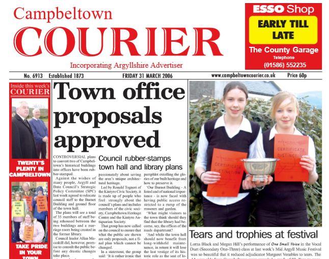 Campbeltown Courier PDF Archive 2006