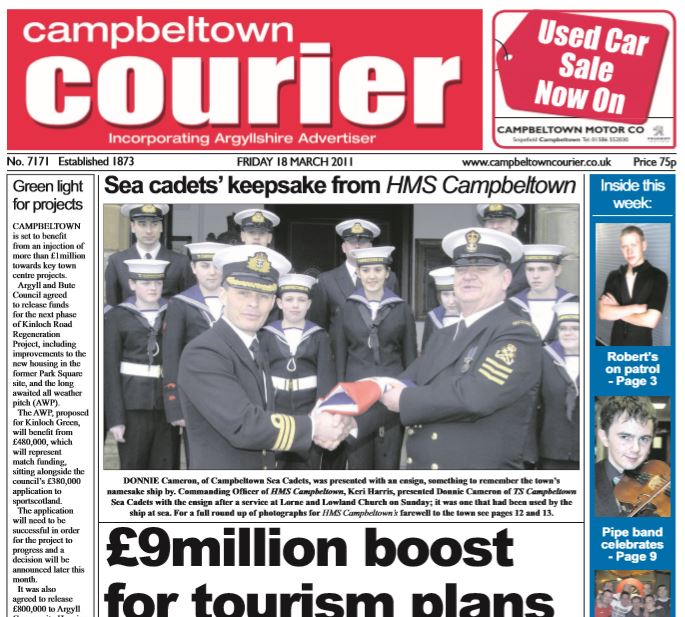 Campbeltown Courier PDF Archive 2011