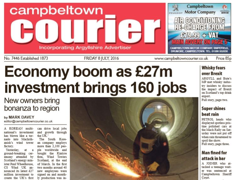 Campbeltown Courier PDF Archive 2016