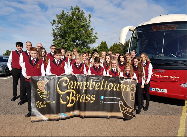 Campbeltown Brass blows with the wind