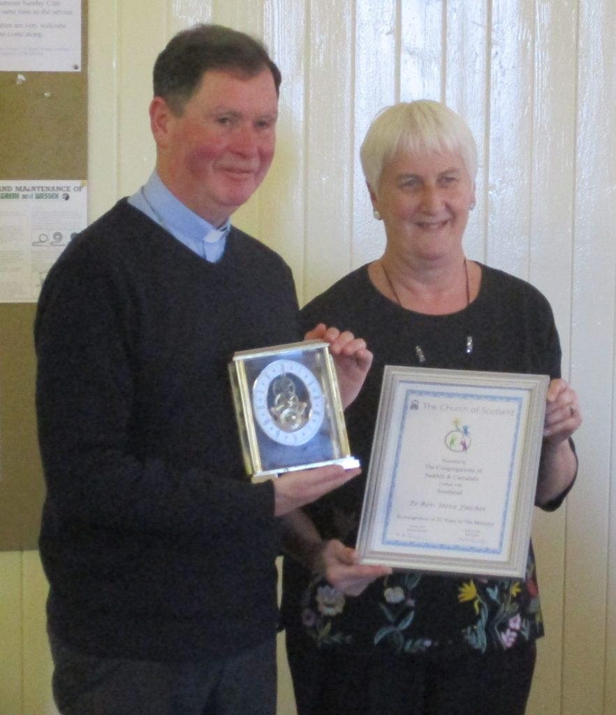 Minister thanked for 25 years' service