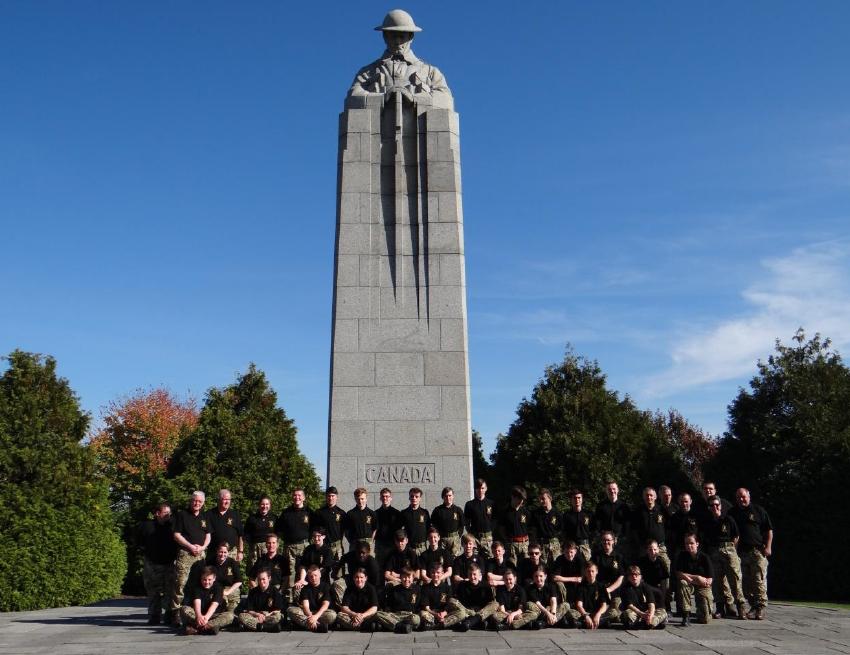 Argyll army cadets European battlefields' tour