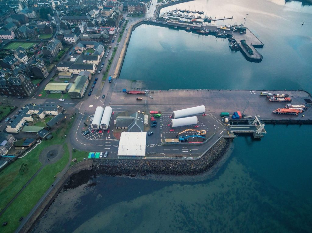 Towers bound for Scotland's largest offshore wind farm