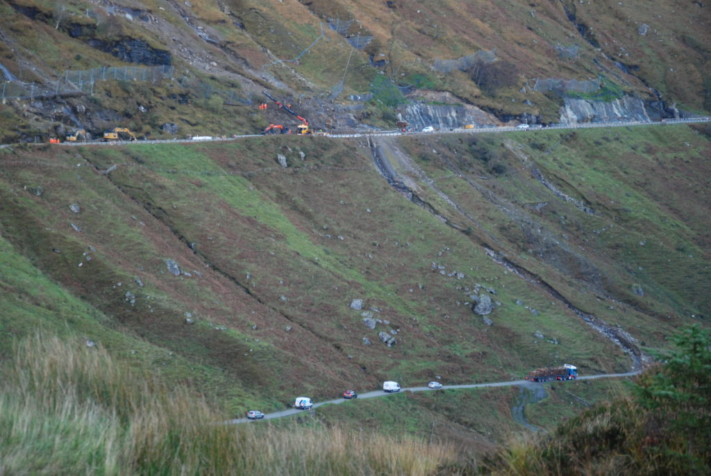 Letter: Rest work has kept the A83 open