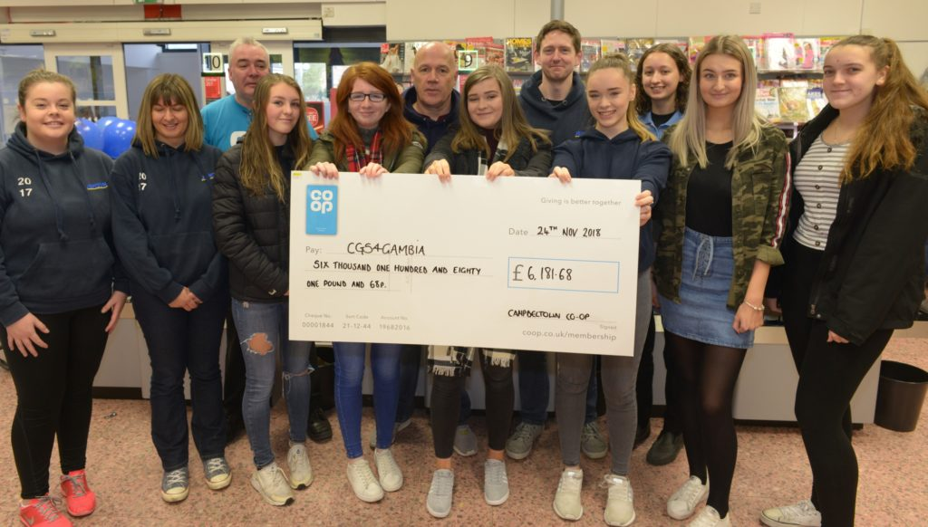 Co-op's CGS4Gambia charity donation