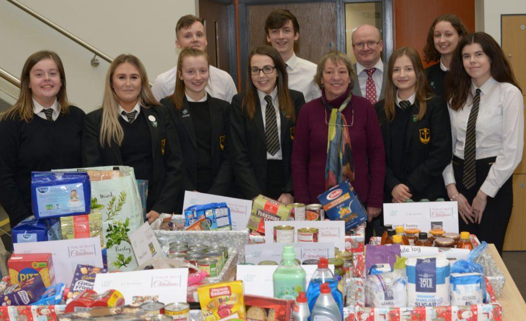 Pupils fill Kintyre Foodbank
