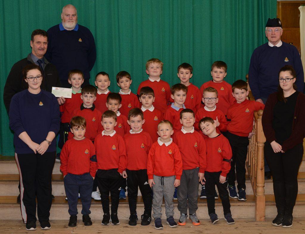 Boys brigade cheque presented