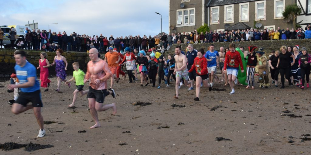 Dippers' refreshing New Year plunge