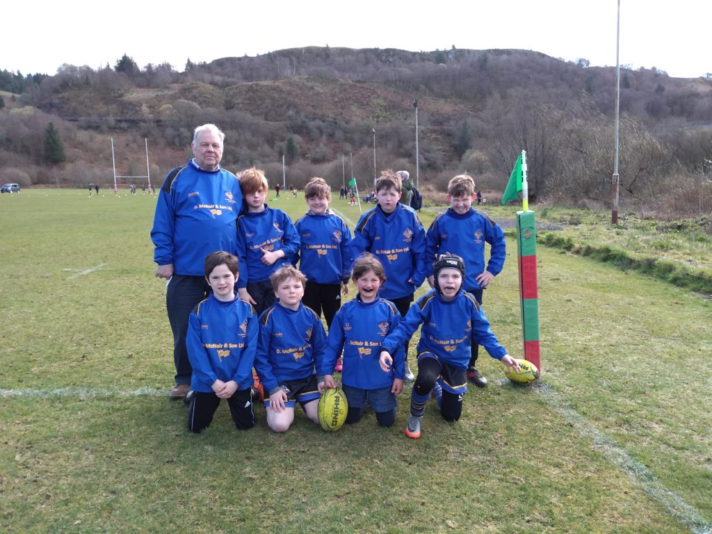 Enthusiastic mini-rugby players home fixture