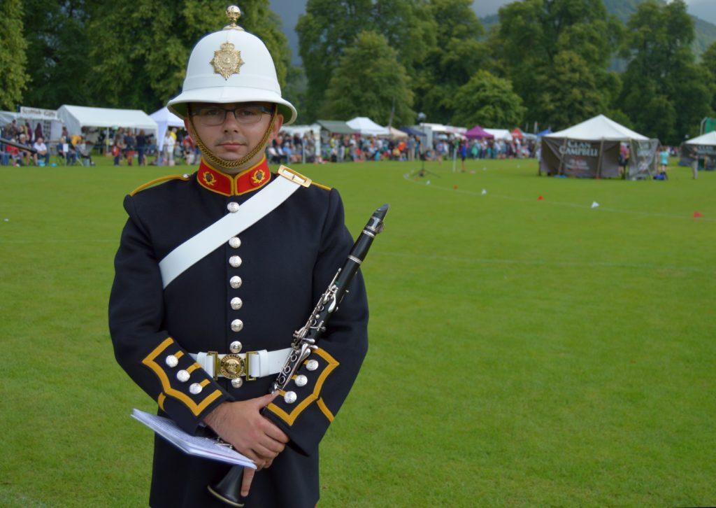 Frank joins the Band of HM Royal Marines at Inveraray