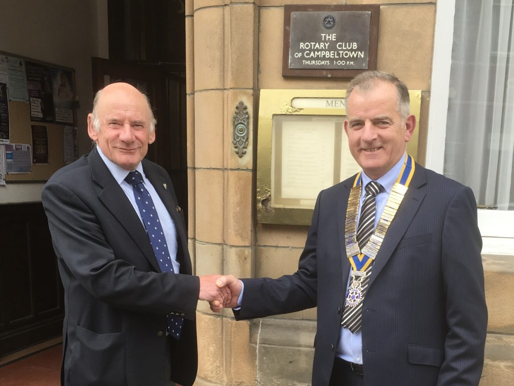 Rotary Club welcomes new president
