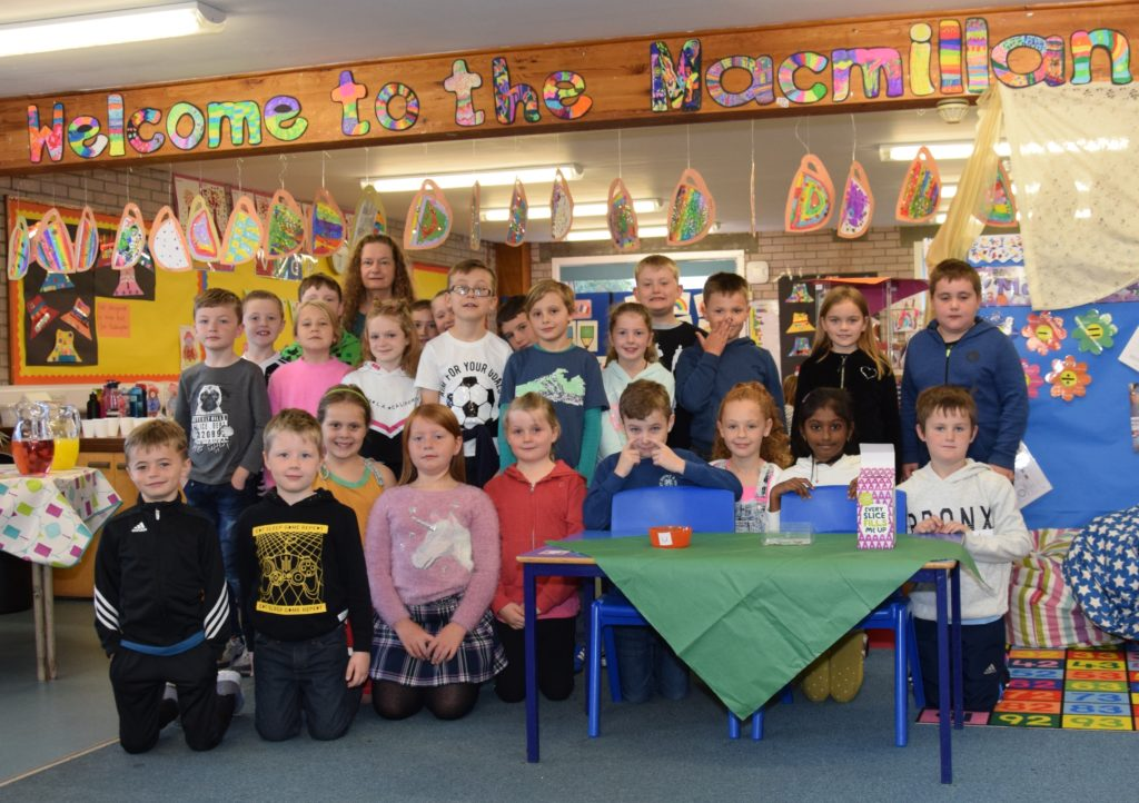 Raising a cup at Castlehill