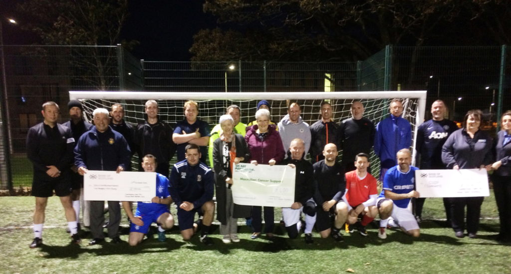 Football cash for charity