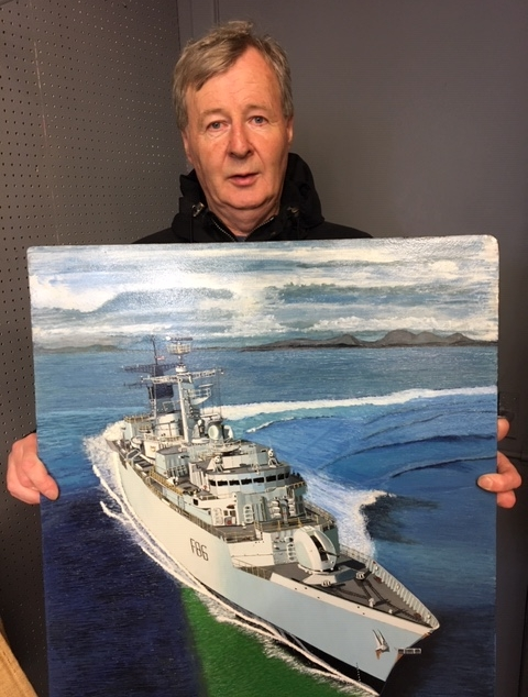 Ship's commander buys charity painting